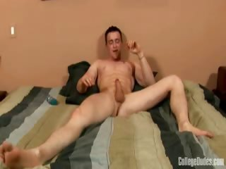Porn Tube of College Dudes - Rick Busts A Nut