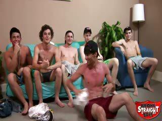 Porn Tube of Broke Straight Boys - Bukkake