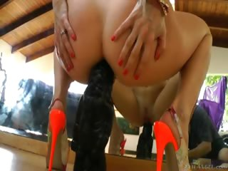 Porno Video of Ashley Fires Being Sexy And Shoving Big Toys Up Her Cute Bum