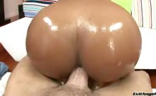 Cute black chick gets her bubble ass filed by a big dick!