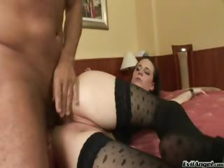 Porn Tube of Hot Brunette Sucks Cock Like A Pro Then Gets Her Ass Fucked