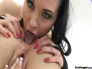 Porno Video of Hot Blonde And Sexy Dark Haired Cutie Toying Their Big Gape!