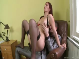 Porno Video of Red Hot Red Head Gets Her Gaping Asshole Fucked With A Cock