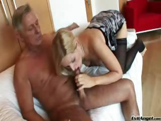 Porn Tube of Sexy Blonde Foot Fucks Big Cock, Ready To Fuck Her Tight Ass