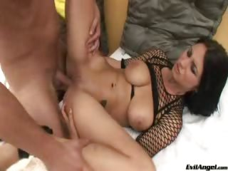Porn Tube of Busty Brunette Takes It In The Ass After Some Hot Foreplay
