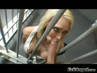 Porn Tube of Horny Bitch Fucks Dude In Jail Cell And Gets A Creamy Facial