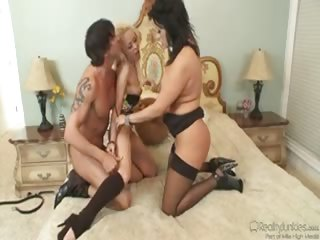 Porn Tube of A Hot Milf & Her Husband Are Fucking Their Teen Babysitter!