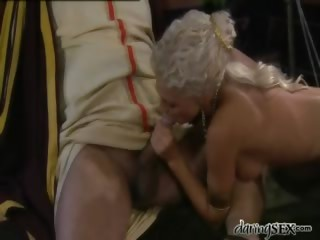 Porn Tube of Roman Gladiator Licking The Pussy Of A Young Blonde Goddess