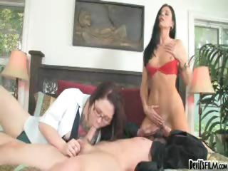 Porn Tube of Hot Mom Shows Her Sexy Daughter The Art Of Sucking Hard Cock