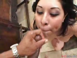 Porn Tube of Dark Haired Latina Has This Passion About Deep Throating!