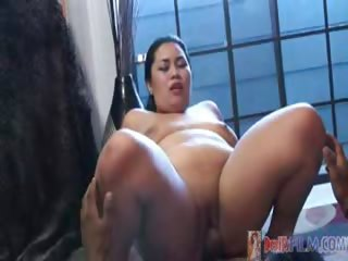 Porn Tube of Big Fat Asian Babe Gets A Good Big Black Cock Fuck!