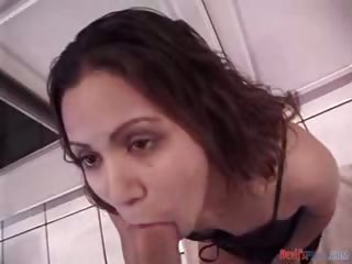 Porno Video of Sexy Latina Shows Her Amazing Deepthroat Talents On Big Cock