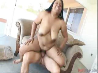 Porn Tube of Hot Ebony Bbw Having Fun Being Eated Then Penetrated Hard