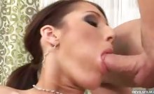 Sexy Josette get some good cock to suck on and swallow cum !