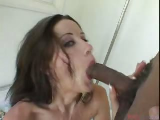 Porn Tube of Cute Brunette College Chick Giving Head And Swallowing Cum