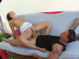Porn Tube of Hot Brunette Giving A Nice Deepthroat Blowjob In These Clips