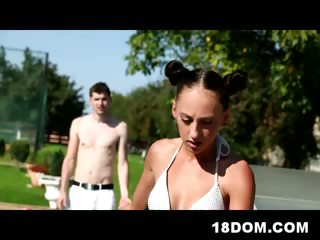 Porn Tube of Femdom By The Pool