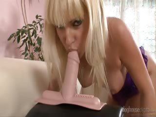 Porno Video of Bianca Rides Her Pussy Up And Down On Her Vibrating Sex Toy!