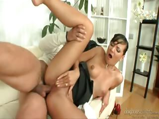 Porn Tube of While The Wife Is Away, This Guy Bangs Their Super Hot Nanny