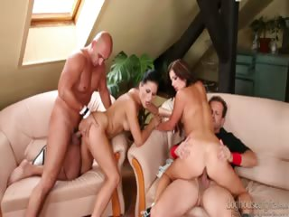 Porno Video of Three Guys Enjoying Some Wife Swapping In This Swinger Orgy