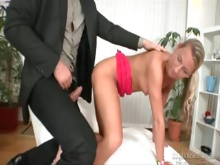 Porn Tube of Nasty Blond Teen Feels Nympho Today With Her Daddy's Friend!
