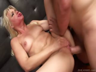 Porno Video of Gorgeous Blonde Goes Down On Ferrara's Cock Then Rides It.