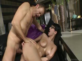 Porno Video of Sexy Bitch With Glasses Blows And Rides Rocco's Massive Dick