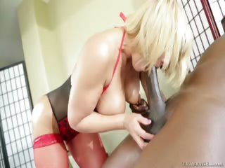 Porn Tube of Hot Blonde Milf With Huge Tits Fucking A Huge Dick