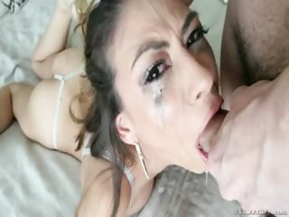 Porno Video of Hardcore Dt! The Girl Is Gagging Everywhere On The Bed!