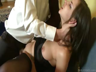 Porn Tube of Horny Teen Hotty In Lingerie Gets Her Asshole Fucked Hard