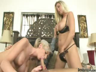 Porno Video of Horny Daughter Is Shown The Ways Of The Cock From Slutty Mom