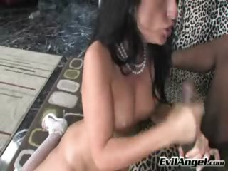 Porno Video of Latin Girl Takes That Juicy Black Cock In Her Mouth So Deep