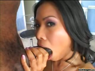 Sex Movie of Sexy Ass Asian Gets Ass And Pussy  Fucked By Big Black Cock!