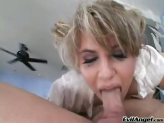 Porno Video of Talented Whore Blows Two Big Dicks & Gets Nasty Facial