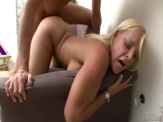 Porn Tube of Blond Milf Sucks And Shoves A Huge Cock In Her Hot Wet Pussy