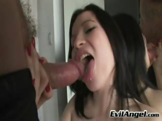 Porno Video of Young Dark Hair Slut Sucks And Gets Fucked Till She Cums!