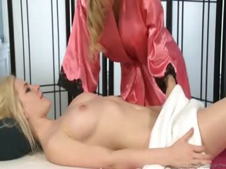 Porno Video of Tattooed Blonde Milf Gives A Nice And Hot Massage To Catie