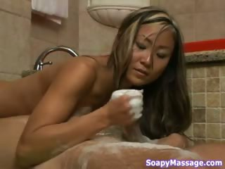Sex Movie of This Hot Soapy Massage Is The Best Massage He Ever Had !