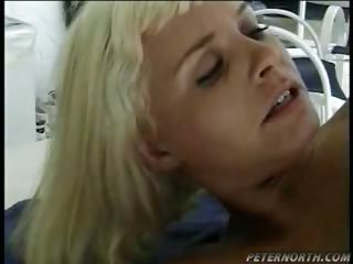 Porn Tube of Delicious Blonde Likes Sucking And Riding A Cock Outdoor!