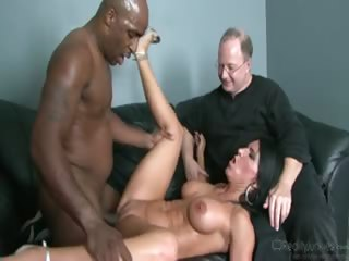 Porn Tube of Old Guy Watches His Wife Get Plowed By A Huge Black Cock!