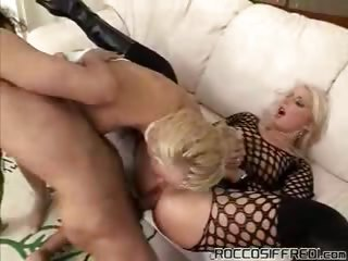 Porno Video of Luscious Blondes Sharing Cock To Get Some Nice Anal Pounding