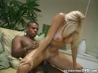 Porno Video of Blonde Gets Her Tight Pussy Drilled By A Black Dude In Here
