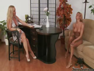 Porno Video of Silvia Saint Interviews Blonde Bombshell Ashley Bulgari Nude