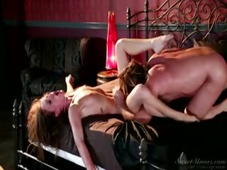 Porno Video of This Horny Brunettte College Girl Fuck With Her New Boss!