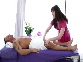 Porn Tube of Horny Masseuse With Big Tits Fucks A Client With A Big Cock.