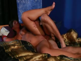 Porn Tube of Sexy College Brunette Banging Her Boyfriend In This Scene