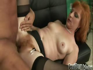 Porn Tube of Your Mom's Hairy Pussy #09