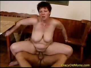 Porn Tube of Racy Old Mom Is Drilled