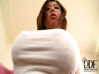 Porn Tube of Asian Babe With 36d Melons