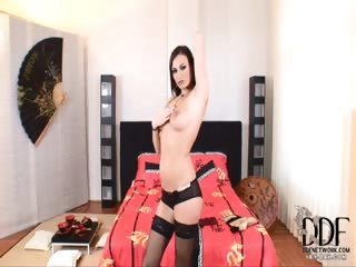 Porn Tube of Sultry Euro Chick In Stockings